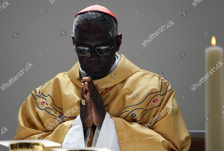 Cardinal Robert Sarah Celebrates a Mass For the Victims of the Earthquake and Tsunami That Hit Northern Japan in March 2011 at the Catholic Mototerakoji Church in Sendai Japan on 15 May 2011 Robert Sarah is in Japan on Behalf of Pope Benedict Xvi to Visit the Earthquake-affected Area in Order to Encourage the Victims Japan Sendai