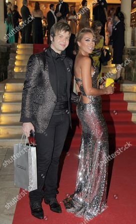 Lebanese Singer Maya Diab (r ) and Lebanese Nicola Gebran (l) Arrives to Attend the 10th Murex D'or Awards Ceremony at Eddes Sands Resort in Northern Beirut Lebanon 10 June 2010 the Murex D'or Event is an Annual Award Festivity Honoring the Best Singer and Actor of Lebanese and Arab Artists in Various Fields of Performing Arts Lebanon Beirut