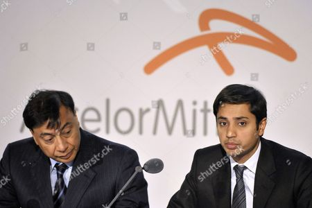 Lakshmi Mittal (l) Chairman of the Board of Directors and Chief Executive Office and Aditya Mittal Group Chief Financial Officer Principal Accounting Officer Director of Finance and Member of Group Management Board of the World's Largest Steel Company Arcelormittal During a Results Press Conference at the Company Headquarters in Luxembourg 08 February 2011 Arcelormittal Announced Results For the Three and Twelve Month Periods Ended December 31 2010 Luxembourg Luxembourg