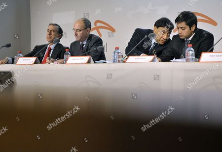 (from Left) Gonzalo Urquijo Member of the Group Management Board Michel Wurth Member of the Group Management Board Lakshmi Mittal Chairman of the Board of Directors and Chief Executive Office and Aditya Mittal Group Chief Financial Officer Principal Accounting Officer Director of Finance and Member of Group Management Board of the World's Largest Steel Company Arcelormittal During a Results Press Conference at the Company Headquarters in Luxembourg 08 February 2011 Arcelormittal Announced Results For the Three and Twelve Month Periods Ended December 31 2010 Luxembourg Luxembourg
