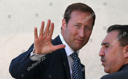 Canadian Minister of Defense Peter Gordon Mackay Arrives For a Meeting with Palestinian President Mahmud Abbas in the West Bank Town of Ramallah on 12 January 2011 - Ramallah