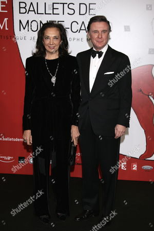 Jeweler Alberto Repossi and His Wife Giovanna Attend the Gala Evening of the Ballets Russes at Grimaldi Forum 20 December 2009 in Monaco This Event Takes Place to Cloture the Monaco Dance Forum This Gala Evening is in Honor of Princess Caroline of Hanover Monaco Monaco
