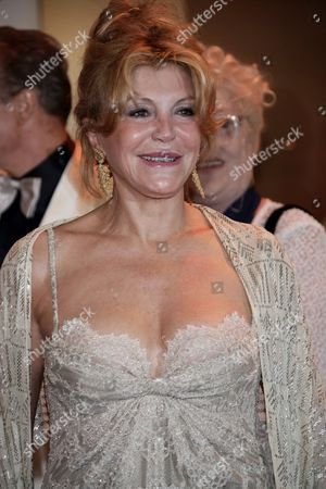 Stock Image of Baroness Tita Cervera Arrives at the 62nd Red Cross Ball at the Sporting Club Salle Des Etoiles in Monaco 30 July 2010 the Red Cross Ball is a Traditional and Annual Charity Event in the Principality of Monaco Monaco Monaco