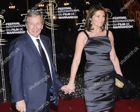 Cecilia Ciganer-albeniz the Former Wife of French President Nicolas Sarkozy Arrives with Her Husband French Businessman Richard Attias (l) at the 9th Marrakech International Film Festival in Marrakech Morocco 05 December 2009