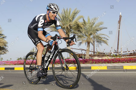 Garmin-cervelo Team Rider Christian Vandevelde of U S Cycles During the Time Trial Session of the Tour of Oman Cycling Race in Al Jissah Oman 19 February 2011 Rabobank Team Rider Robert Gesink of the Netherlands Won the Time Trial Session Oman Al Jissah