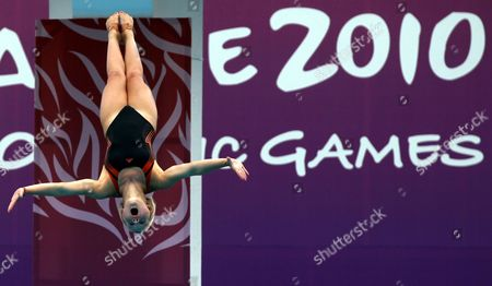 Megan Sylvester of Britain in Action During the Youth Women's 10meter Platform Diving Preliminaries on at the 2010 Youth Olympic Games in Singapore on 21 August 2010 the Inaugural Youth Olympic Games Are Being Held in Singapore From the 14-26th August Singapore Singapore