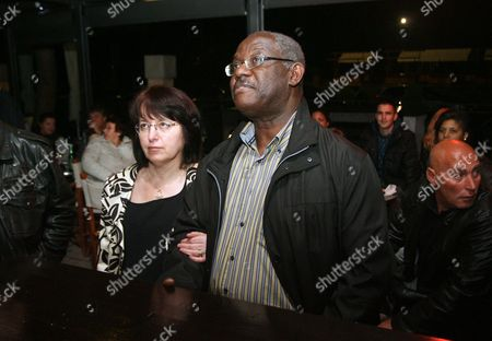 Stock Picture of A Picture Taken 24 October 2010 Shows the New Mayor of Piran City on Slovenian Coast Peter Bossman (with Wife) Bossman is a Ghana-born Doctor and Has Been Elected the First Black Mayor in Slovenia and Probably the First in Old Yugoslavia He is a Candidate of the Centre-left Social Democrats (sd) Bbossman Came to the Country in the 1980s when It was Still Part of the Former Yugoslavia to Study Medicine Slovenia Piran