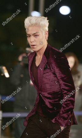 Stock Image of South Korean Band T O P Member and Actor Choi Seung-hyun Arrives For the 31th Blue Dragon Film Awards at the National Theater in Seoul South Korea 26 November 2010 the Blue Dragon ('cheongryong') Awards Are One of the Country's Two Major Film Awards Korea, Republic of Seoul