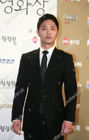 South Korean Actor Jin-goo Arrives For the 31th Blue Dragon Film Awards at the National Theater in Seoul South Korea 26 November 2010 the Blue Dragon ('cheongryong') Awards Are One of the Country's Two Major Film Awards Korea, Republic of Seoul