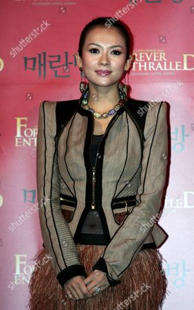 Chinese Actress Zhang Ziyi Poses During the 'Forever Enthralled' Premiere in Seoul South Korea 24 March 2009 the Biographical Film by Chinese Director Chen Kaige Follows the Life of Mei Lanfang One of China's Premiere Opera Performers the Film Will Open in Korea On 09 April 2009