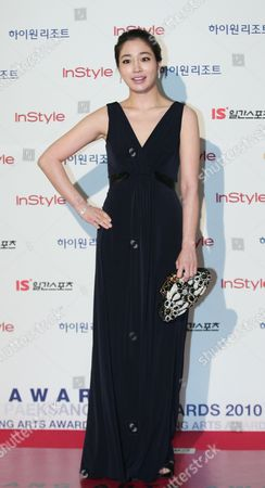 South Korean Actress Lee Min-jung Arrives at the 46th Annual Baeksang Art Awards at the National Theater in Seoul South Korea 26 March 2010 Lee Min-jung Performed in the Movie 'Searching For the Elephant' Korea, Republic of Seoul