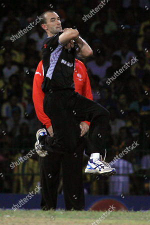 Stock Image of Andy Mckay of New Zealand in Action During the 2011 Icc World Cup Semi Final Match Versus Sri Lanka at the R Premadasa International Cricket Stadium in Colombo Sri Lanka 29 March 2011 Sri Lanka Colombo