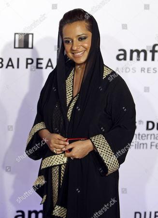 Emirati Film-maker Nayla Al Khaja Arrives For the Cinema Against Aids Dubai Gala Auction Held on Behalf of Amfar the Foundation For Aids Research at the Sixth Dubai International Film Festival 10 December 2009 in Dubai United Arab Emirates the Festival Runs Until 16 December United Arab Emirates Dubai