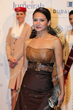Egyptain Actress Nelly Karim Poses at the Opening Ceremony of the Dubai International Film Festival (diff) at Madient Jumierah in Dubai Uae 12 December 2010 Diff Runs From 12 Until 19 December 2010 United Arab Emirates Dubai