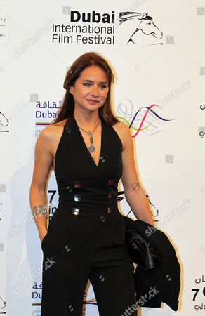 Egyptian Actress Nelly Karim Poses on Arrival at the Dubai International Film Festival (diff) at Madient Jumierah in Dubai Uae 13 December 2010 Diff Runs From 12 Until 19 December 2010 United Arab Emirates Dubai