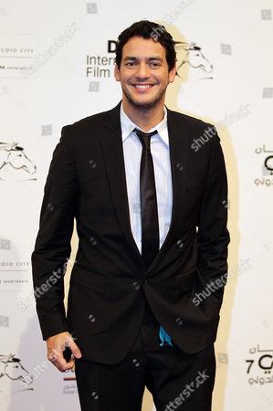 Egyptian Actor Khaled Abol Naga Poses on Arrival at the Dubai International Film Festival (diff) at Madient Jumierah in Dubai Uae 13 December 2010 Diff Runs From 12 Until 19 December 2010 United Arab Emirates Dubai