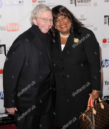 Film Critic Roger Ebert (l) of the Us and His Wife Chaz Hammelsmith (r) Arrive For the 14th Annual Webby Awards Which Honor Excellence on the Internet in New York New York Usa on 14 June 2010 United States New York