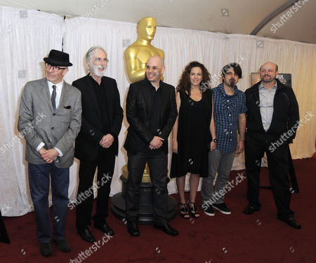 Directors of the Five Oscar-nominated Foreign Films (l-r) Jacques Audiard of France Michael Haneke of Germany Yaron Shani of Israel Claudia Llosa of Peru Scandar Copti of Israel and Juan Jose Campanella of Argentina Pose For Photographs During a Photo Opportunity the 82nd Annual Academy Awards in Los Angeles California Usa 05 March 2010 United States Los Angeles