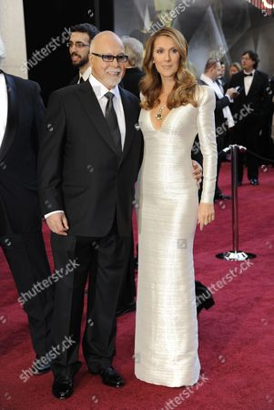 Canadian Singer Celine Dion (r) and Husband Rene Angelil Arrive For the 83rd Annual Academy Awards at the Kodak Theatre in Hollywood California Usa 27 February 2011 the Oscars Are Presented For Outstanding Individual Or Collective Efforts in Up to 25 Categories in Filmmaking United States Hollywood