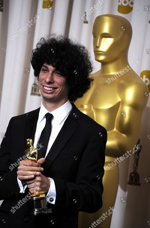 Us Director Luke Matheny with His Oscar After Winning Best Live Action Short Film For God of Love at the 83rd Annual Academy Awards at the Kodak Theatre in Hollywood California Usa 27 February 2011 the Oscars Are Presented For Outstanding Individual Or Collective Efforts in Up to 25 Categories in Filmmaking United States Hollywood