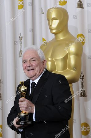 British-american Writer David Seidler with His Oscar After Winning Best Original Screenplay For the King's Speech at the 83rd Annual Academy Awards at the Kodak Theatre in Hollywood California Usa 27 February 2011 the Oscars Are Presented For Outstanding Individual Or Collective Efforts in Up to 25 Categories in Filmmaking United States Hollywood
