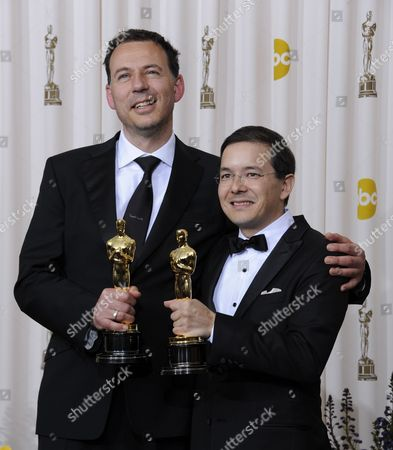 Shaun Tan (r) and Andrew Ruhemann Hold Their Oscars For Best Animated Film For the Lost Thing at the 83rd Annual Academy Awards at the Kodak Theatre in Hollywood California Usa 27 February 2011 the Oscars Are Presented For Outstanding Individual Or Collective Efforts in Up to 25 Categories in Filmmaking United States Hollywood