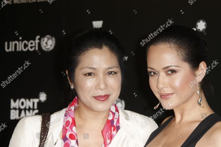 German Producer Ankie Lau (l) and Her Daughter German Actress Ankie Beilke (r) Arrive at the Montblanc Charity Cocktail Hosted by the Weinstein Company to Benefit Unicef Held at Soho House in Los Angeles California Usa 06 March 2010 This Pre-oscar Party is One of the Most Popular Events the Night Before the Academy Awards Ceremony and Celebrities Line Up For 45 Minutes Just to Get Into the Party United States Los Angeles