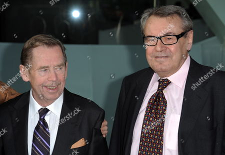 Director Milos Forman (r) of the Czech Republic and Vaclav Havel Former President of the Czech Republic Arrive For the Film Society of Lincoln Center's 2010 Chaplin Award Gala Honoring Michael Douglas in New York New York Usa on 24 May 2010 United States New York
