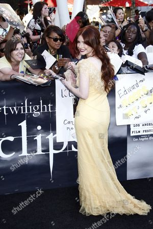 Us Actress/cast Member Bryce Dallas Howard Arrives at the Usa/la Premiere of 'The Twilight Saga: Eclipse' Held at the Nokia Theater at La Live in Los Angeles California Usa 24 June 2010 the Movie by British Director David Slade is the Third Installment in the Twilight Series and Will Be Released in the Us on 24 June United States Los Angeles