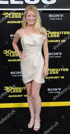 Actress Christie Brooke Arrives For the 30 Minutes Or Less Movie Premiere in Hollywood California Usa 08 August 2011 United States Hollywood