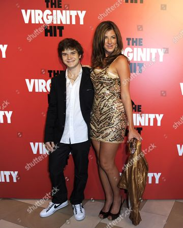 Stock Picture of Us Actors and Cast Members Jacob Davich (l) and Victoria Haynes (r) Arrive For a Special Screening of 'The Virginity Hit' in Los Angeles California Usa 07 September 2010 'The Virginity Hit' is the Story of Four Guys with a Camera Chronicilling Their Experience of Losing Their Virginity United States Los Angeles