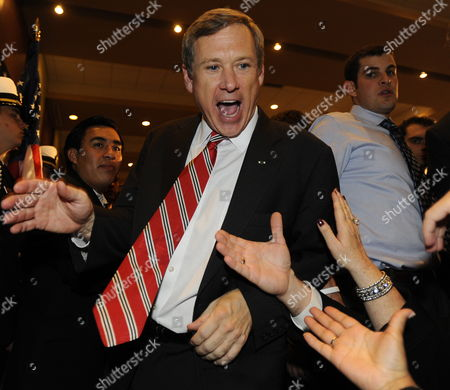 Republican Us Senator Elect From Illinois Mark Kirk Celebrates His Election Win Over Democratic Challenger Alexi Giannoulias in Wheeling Illinois Usa 02 November 2011 Mid-term Elections Are Being Held Across the United States with Many Highly Contested Races That Could Threaten the Political Futures of Numerous Incumbents As Well As Change the Balance in the Senate and House of Representatives United States Wheeling