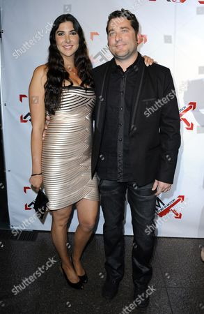 Stock Image of A Picture Made Available on 26 April 2011 Shows Us Writer/director Jason Hewitt (r) and Us Casting Director Lisa Dupree (l) As They Arrive For the Premiere of 'Blood Out' in Los Angeles California Usa 25 April 2011 'Blood Out' is a Good Cop/bad Cop Action Drama United States Los Angeles