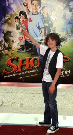 Stock Image of Us Actor and Cast Member Trevor Gagnon Arrives For the Los Angeles Premiere of 'Shorts' at the Chinese Theatre in Los Angeles California Usa 15 August 2009 Gagnon Plays the Role of 'Loogie' in This Family Action-adventure United States Los Angeles