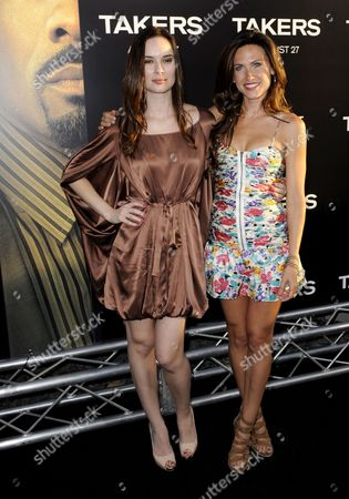 Us Actors Mercedes Connor (l) and Vail Bloom (r) Arrives For the World Premiere of 'Takers' in Hollywood California Usa 04 August 2010 'Takers' is the Story of a Group of Criminals who Continually Baffle the Police by Executing Perfect Bank Robberies United States Hollywood