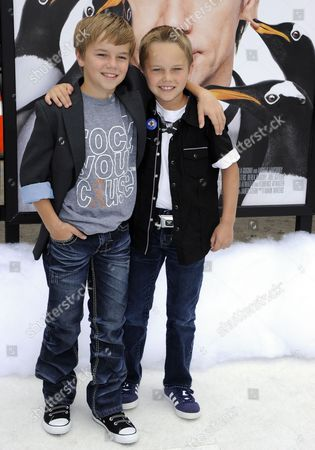 Us Actor and Cast Member Maxwell Perry Cotton (l) and Brother Us Actor Mason Vale Cotton (r) Arrive For the Premiere of 'Mr Popper's Penguins' in Los Angeles California Usa 12 June 2011 'Mr Popper's Penguins' is a Live Action Family Comedy About a Family who Inherits Six Mischievous Penguins United States Los Angeles