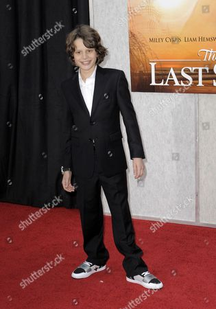 Stock Picture of Us Actor and Cast Member Bobby Coleman Arrives For the Premiere of 'The Last Song' in Hollywood California Usa 25 March 2010 Coleman Plays the Role of 'Jonak Miller' in This Story of First Love United States Hollywood