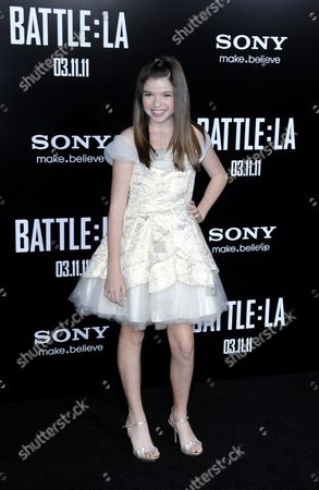 Us Actress and Cast Member Jadin Gould Arrives For the 'Battle: Los Angeles' Premiere in Los Angeles California Usa 08 March 2011 the Film Hits British and American Theatres on 11 March 2011 United States Los Angeles