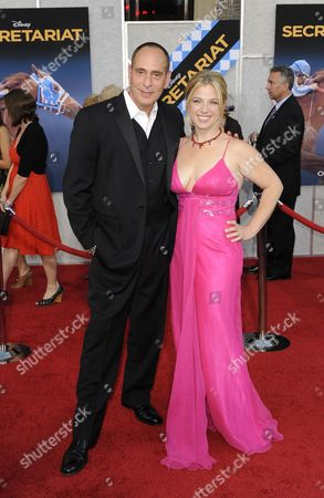 Stock Picture of Us Actor and Cast Member Nestor Serrano (l) and Wife Debbie Ross (r) Arrive For the Premiere of 'Secretariat' in Los Angeles California Usa 30 September 2010 'Secretariat' is the Life Story of Penny Chenery Owner of the Racehorse Secretariat who Won the Triple Crown in 1973 United States Los Angeles