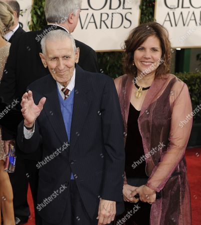 Us Dr Jack Kevorkian (l) Arrives with an Unidentified Guest For the 68th Golden Globe Awards Held at the Beverly Hilton Hotel in Los Angeles California Usa 16 January 2011 United States Beverly Hills