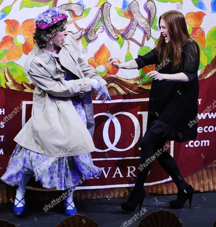 Us Actress Julianne Moore (r) Reaches out to Tickle a Hasty Pudding Theatricals Cast Member During the Roast Session of the 2011 Hasty Pudding Theatricals Woman of the Year Award Presentation in Cambridge Massachusetts Usa 27 January 2011 the Woman of the Year Award is Presented Annually to a Performer who Has Made a 'Lasting and Impressive Contribution to the World of Entertainment and Hathaway Joins Other Past Honorees Including Meryl Streep Katharine Hepburn Julia Roberts Jodie Foster Meg Ryan and Most Recently Anne Hathaway United States Cambridge