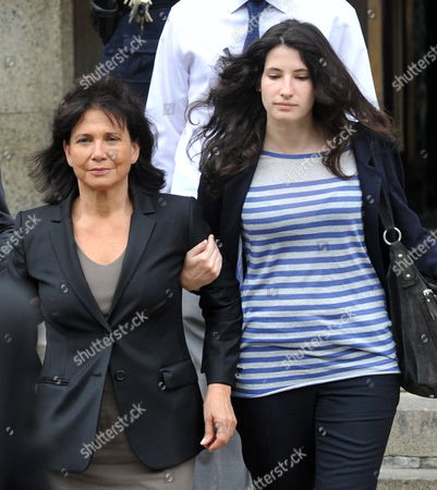 Former Head of the International Money Fund Dominique Strauss-khan's Wife Anne Sinclair (l) and Her Daughter Camille Strauss-kahn (r) Leave Manhattan Criminal Court 19 May 2011 in New York Strauss-kahn the Former Head of the International Money Fund Faced Arraignment 19 May on Charges of Attempted Rape and Criminal Sexual Contact in the Alleged Attack on a Maid who Went Into His Penthouse Suite at a Hotel Near Times Square on Saturday United States New York