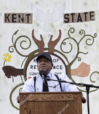 Black Panther Founder Bobby Seale During a Commemoration of the Shootings at Kent State University in Kent Ohio Usa on 04 May 2010 During a Vietnam War Era Protest on 4 May 1970 the Ohio National Guard Fired Into a Crowd of Students on the Campus of Kent State University Killing Four Students and Wounding Nine United States Kent