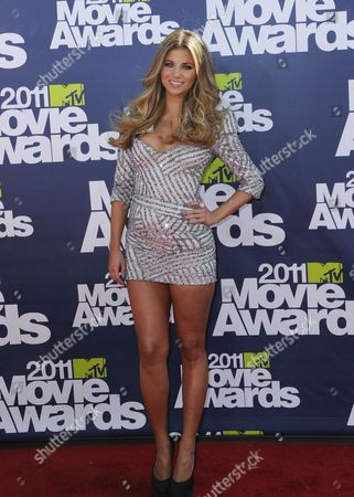 Model Amber Lancaster Arrives For the 2011 Mtv Movie Awards at the Gibson Amphitheater at Universal Studies in Universal City California Usa 05 June 2011 the Movies Are Nominated by Producers and Executives From Mtv and the Winners Are Chosen On-line by the General Public United States Los Angeles