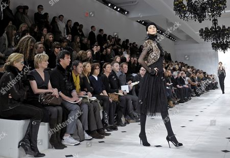 Stock Photo of Argentine Model Cecilia Mendez Presents a Creation by Ralph Lauren During the Fall 2010 Mercedes-benz Fashion Week in New York City New York Usa 18 February 2010 the Fashion Week Runs From 11 to 18 February United States New York