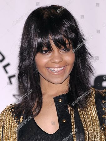 Singer-songwriter Fefe Dobson of Canada Appears in the Press Room at the 2010 Rock and Roll Hall of Fame Induction Ceremony at the Waldorf Astoria in New York New York Usa on 15 March 2010 United States New York