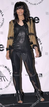 Singer-songwriter Fefe Dobson of Canda Appears in the Press Room at the 2010 Rock and Roll Hall of Fame Induction Ceremony at the Waldorf Astoria in New York New York Usa on 15 March 2010 United States New York
