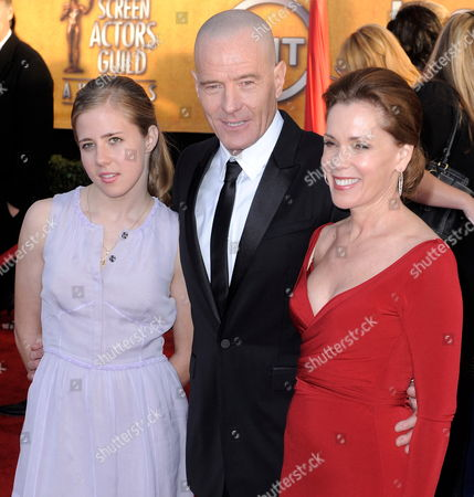 Us Actor Bryan Cranston (c) Arrives with His Wife Robin Dearden (r) and Daughter Taylor Dearden Cranston (l) For the 16th Annual Screen Actors Guild Awards at the Shrine Auditorium in Los Angeles California Usa 23 January 2010 the Screen Actors Guild Honors Excellence in Five Film and Eight Prime Time Television Categories United States Los Angeles