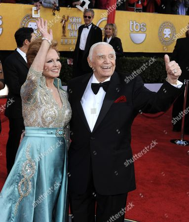 Us Actor Ernest Borgnine (r) and Wife Tova Traesnaes Arrive For the 17th Annual Screen Actors Guild Awards Held at Shrine Auditorium in Los Angeles California Usa 30 January 2011 United States Los Angeles