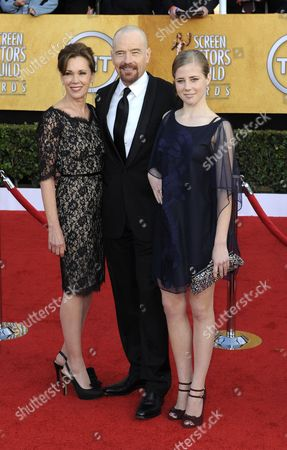 Us Actor Bryan Cranston (c) Arrives with His Wife Robin Dearden (l) and Daughter Taylor Dearden Cranston For the 17th Annual Screen Actors Guild Awards Held at Shrine Auditorium in Los Angeles California Usa 30 January 2011 United States Los Angeles